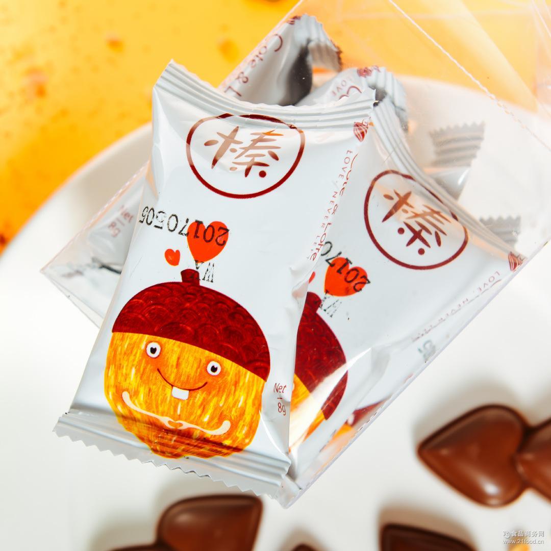 厂家直销纯脂榛子夹心巧克力礼盒六粒装糖果礼盒休闲食品3盒起发