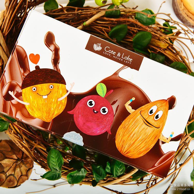 厂家直销纯可可脂榛意果仁夹心巧克力礼盒休闲食品糖果2盒起发