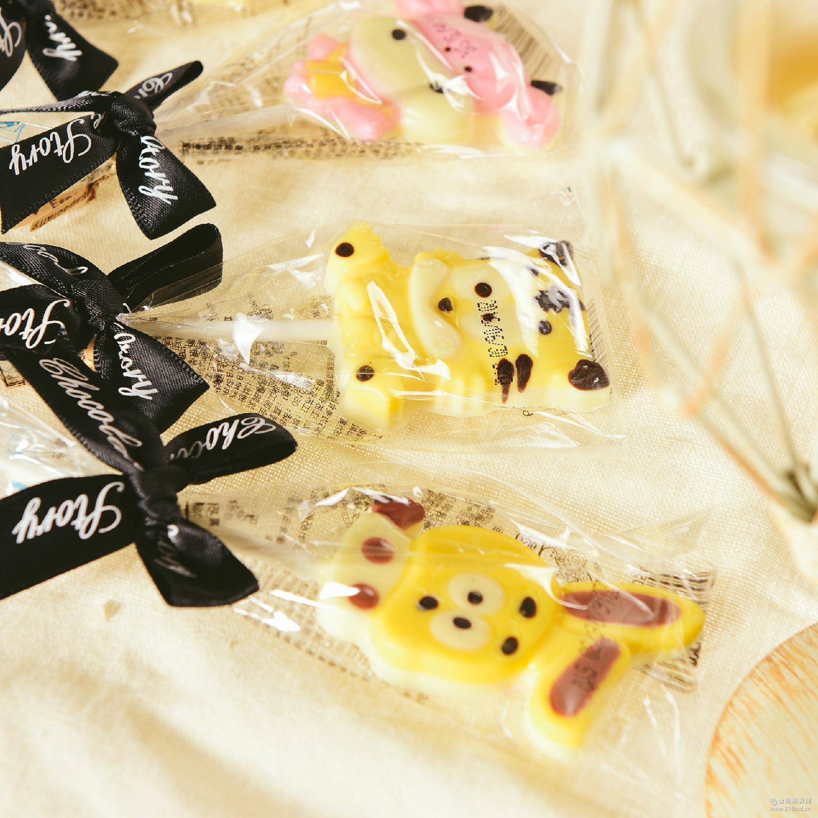厂家直销十二生肖巧克力棒棒糖零食糖果手工生产40支/盒1盒起发