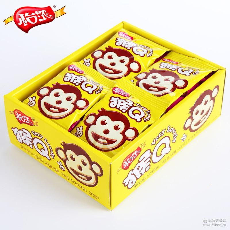 怡浓猴Q饼干代可可巧克力脂创意儿童零食品快消品代发厂家定制