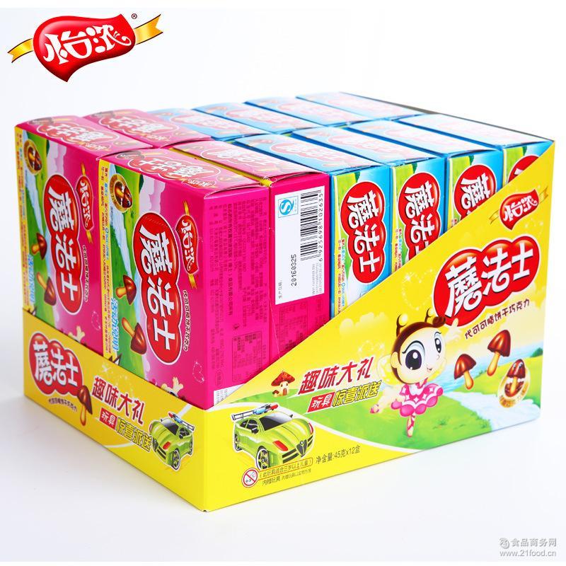 怡浓蘑法士饼干巧克力代可可脂小食品批发散装厂家儿童零食玩具