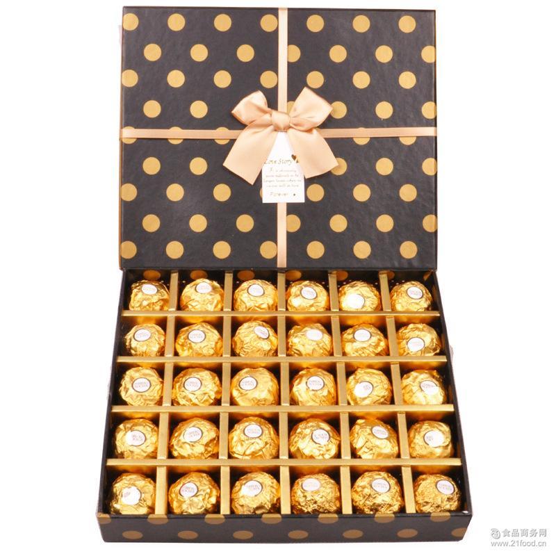 私人订制30格费列罗巧克力生日节日礼物*私人定制款一件代发