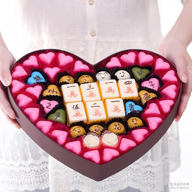 厂家手工巧克力礼盒装情人节圣诞礼物糖果零食喜糖批发