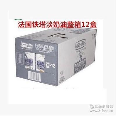 铁塔淡奶油1L*12盒/稀奶油铁塔淡奶油新包装