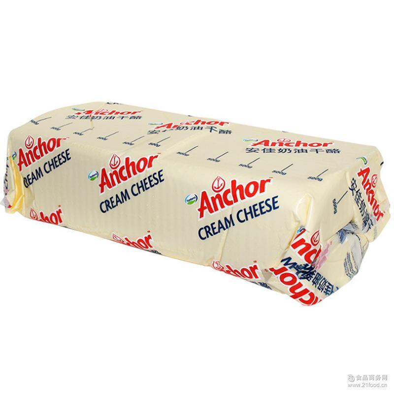 Anchor安佳奶油芝士5KG奶油奶酪奶酪包烘焙原料干酪类批发