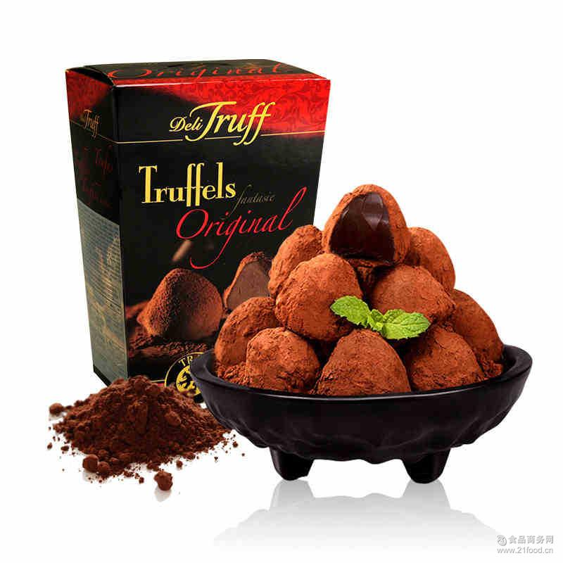 进口巧克力批发 比利时奥黛丽原味松露巧克力175g休闲零食批发