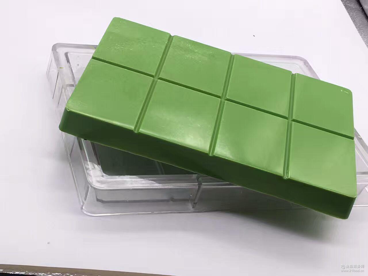金芝煌巧克力大块厂家批发巧克力大块10公斤装绿色代可可脂大块