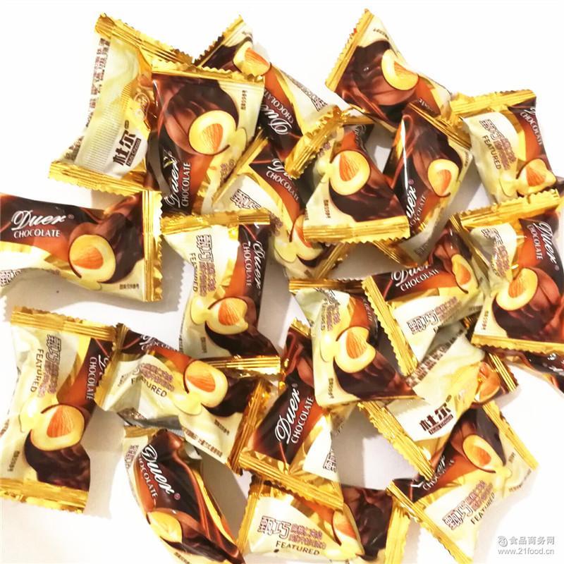 举报 厂家热销2000克 180粒甄巧扁桃仁夹心威化牛奶巧克力批发