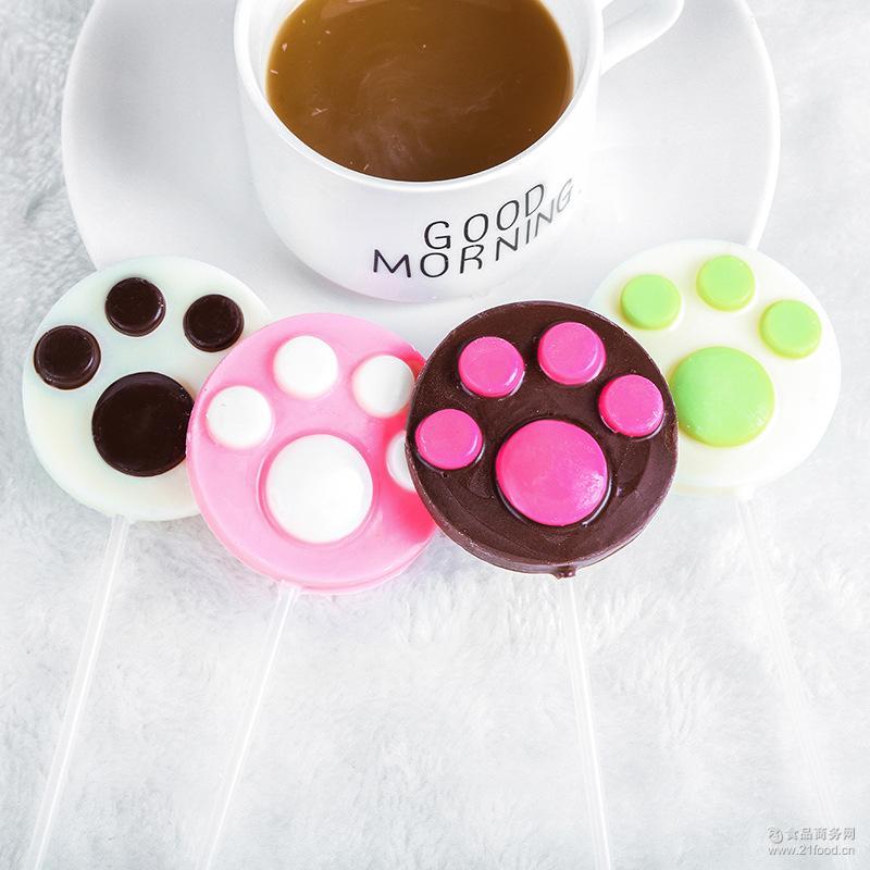 厂家直销 批发小零食手工儿童糖果 卡通造型巧克力棒棒糖22g