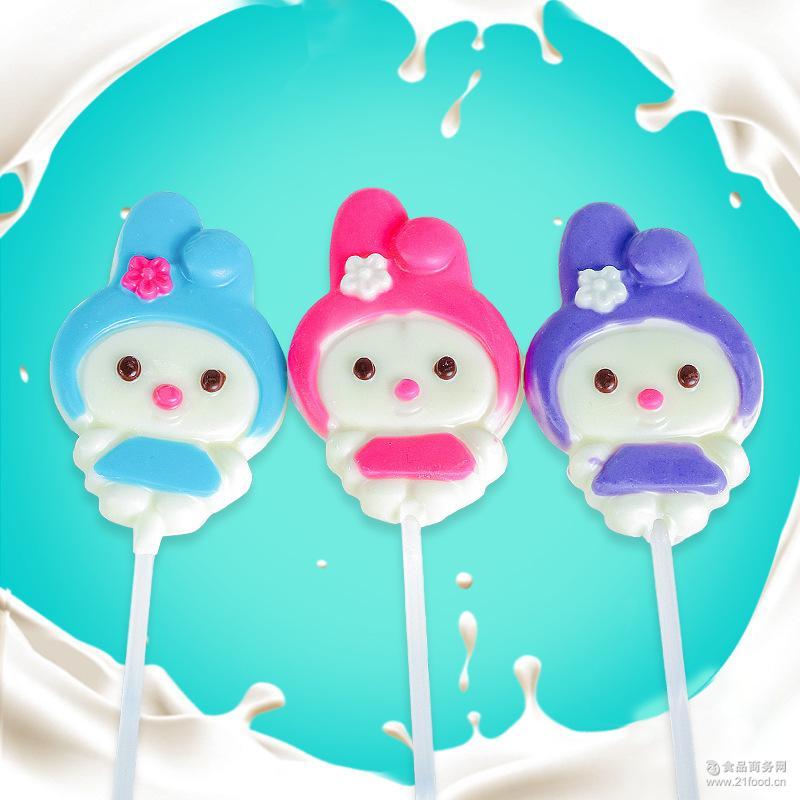非喜糖食品35g手工护齿棒棒糖礼盒批发 创意卡通造型巧克力棒棒糖