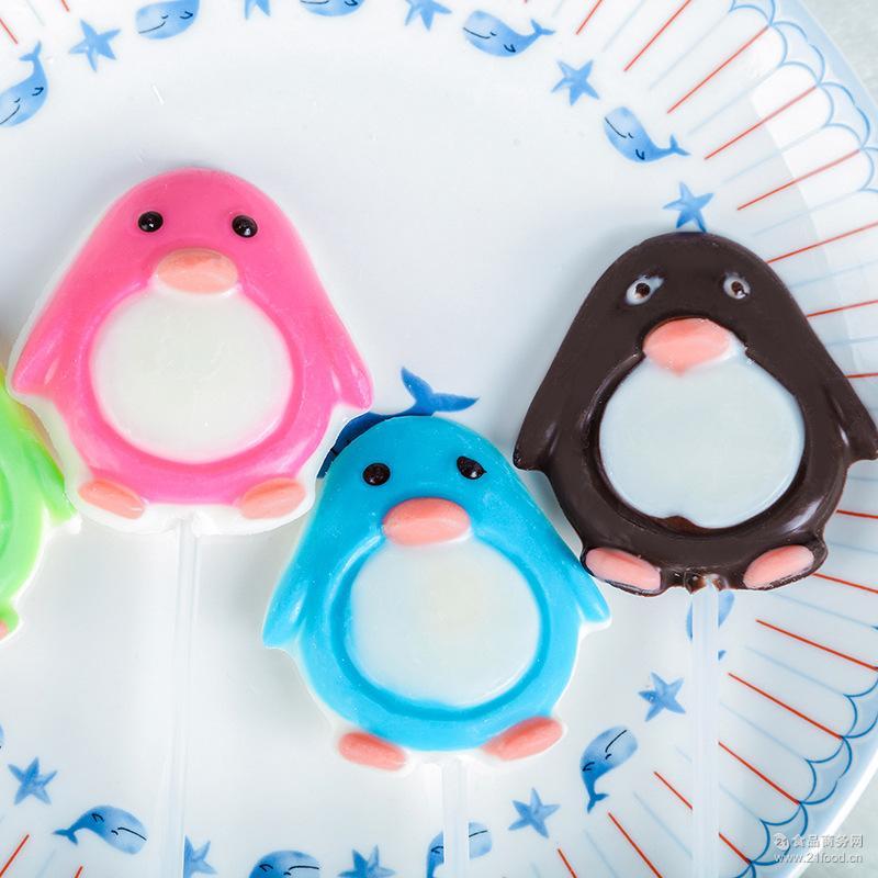 手工非喜糖儿童小零食糖果定制 批发创意卡通造型巧克力棒棒糖22g