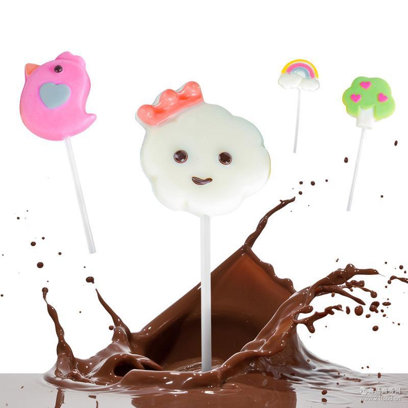 创意卡通造型巧克力棒棒糖22g 糖果定制批发 手工护齿儿童零食
