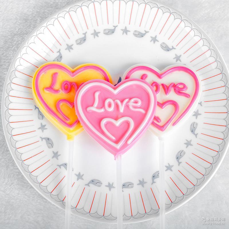 散装造型糖果 批发休闲零食非喜糖食品巧克力35g爱心巧克力棒棒糖