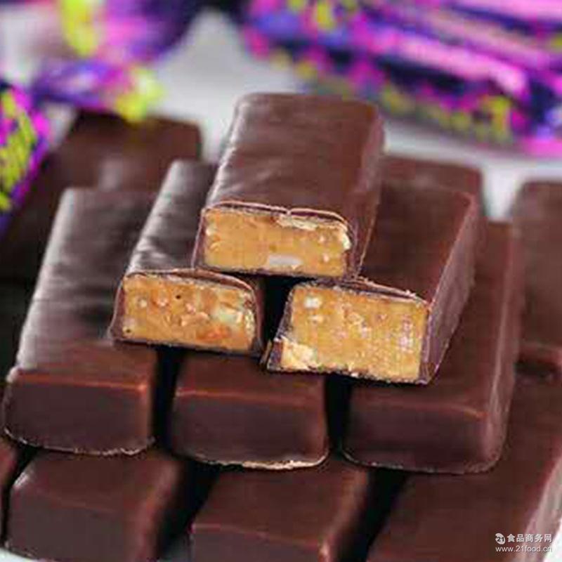 巧克力味夹心花生夹 俄罗斯紫皮糖散装夹心巧克力喜糖果零食批发