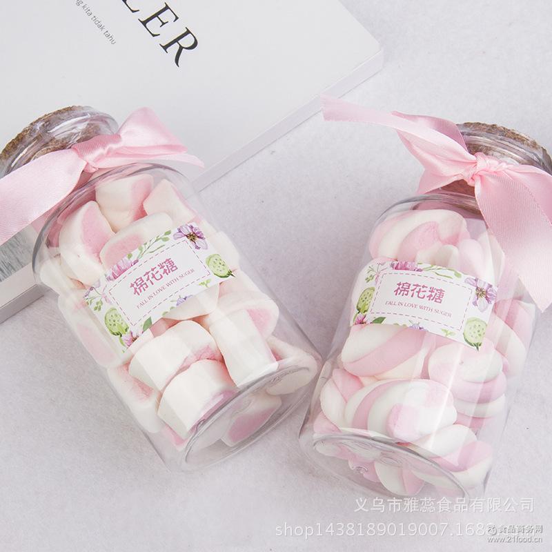 创意精品糖果瓶装系列棉花糖许愿瓶糖果休闲零食厂家批发