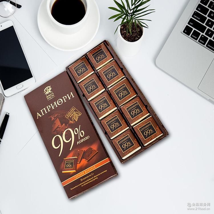 原装进口俄罗斯休闲食品黑巧克力黑骑士苦味100G/72G一件代发批发