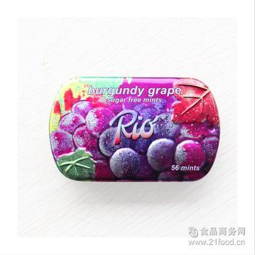 RIO糖 坚实型压片糖果14g 德国瑞怡乐 红葡萄味薄荷糖