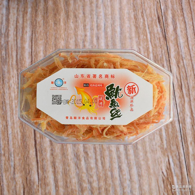 产家供应品质保证居家*休闲零食 顺洋牌100g鱿鱼丝 碳烤鱿鱼丝