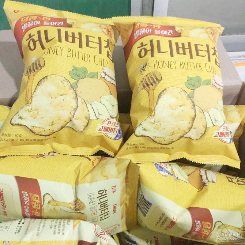 韩国海太蜂蜜黄油薯片 进口膨化食品