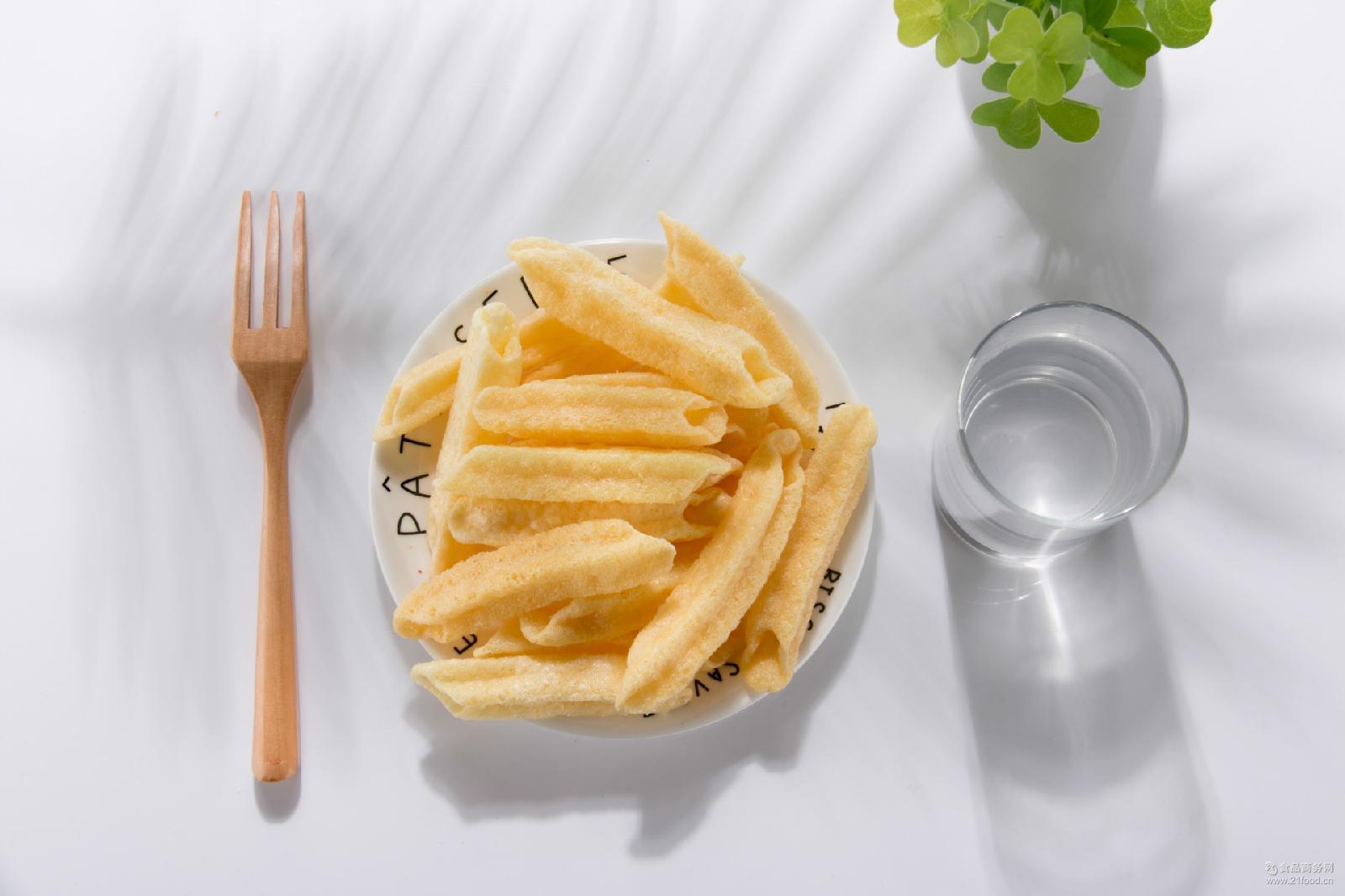 酥脆油炸 膨化空心薯条薯片胚料半成品 厂家直销膨化食品 成品