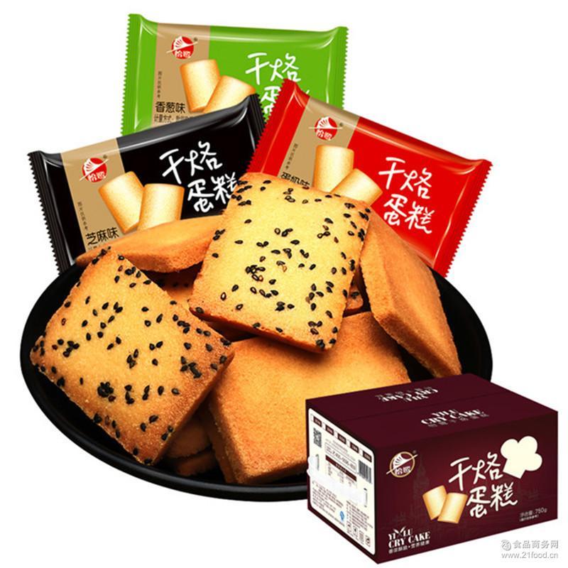 早餐饼干面包干 怡鹭干烙蛋糕铁板鸡蛋煎饼 小吃零食烤馍片750g