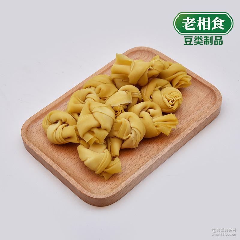 千张结 豆制品批发代加工 百叶结 袋 老相食 豆腐皮结 160克