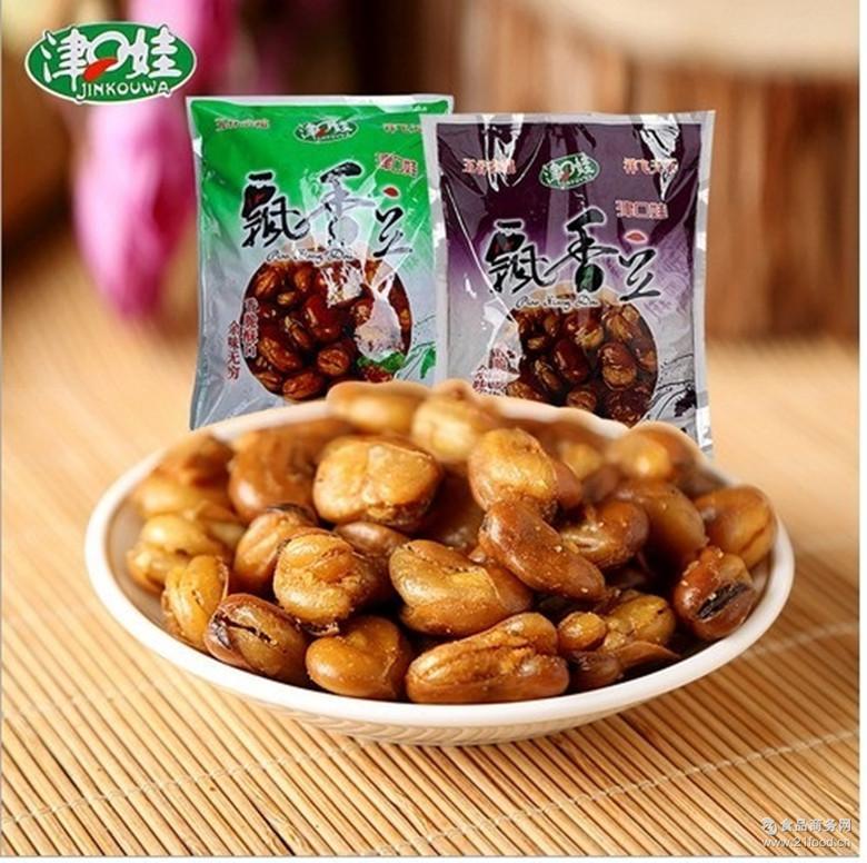 口水豆 下酒常用 油炸香酥兰花豆 香辣牛肉味蚕豆 津口娃 4斤/袋