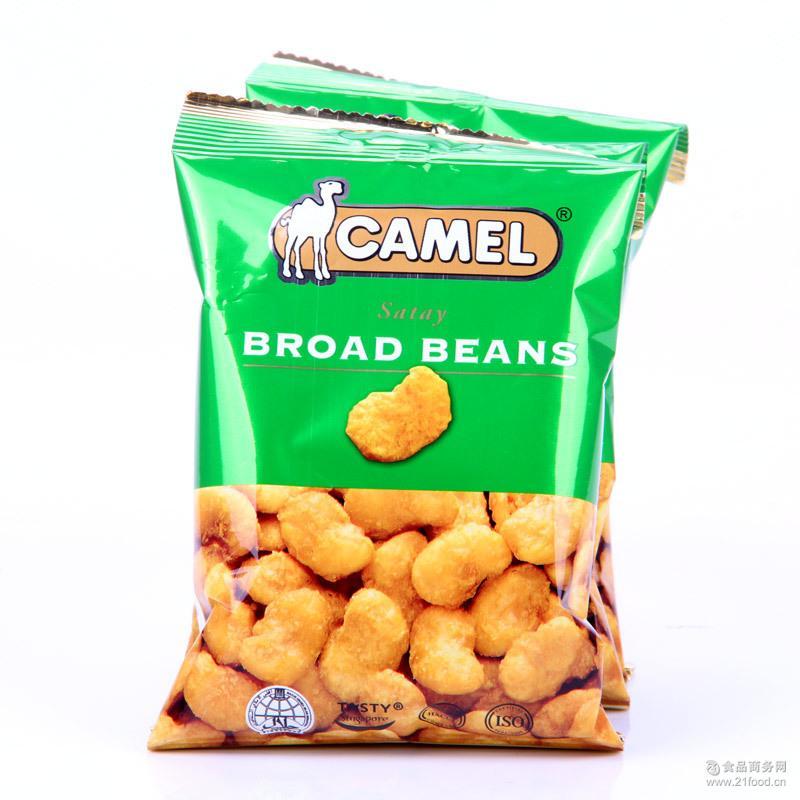 新加坡进口坚果骆驼牌蚕豆混合果仁沙爹蚕豆40g休闲零食小吃