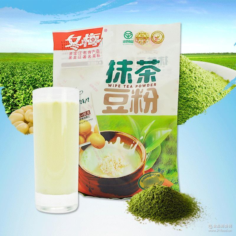 抹茶豆粉 豆浆代餐粉 早餐代餐豆奶速溶食品300g/袋 冬梅豆粉