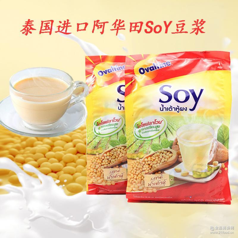 泰国进口阿华田SOY豆浆 速溶豆浆粉 原味420g14条/袋早餐冲饮