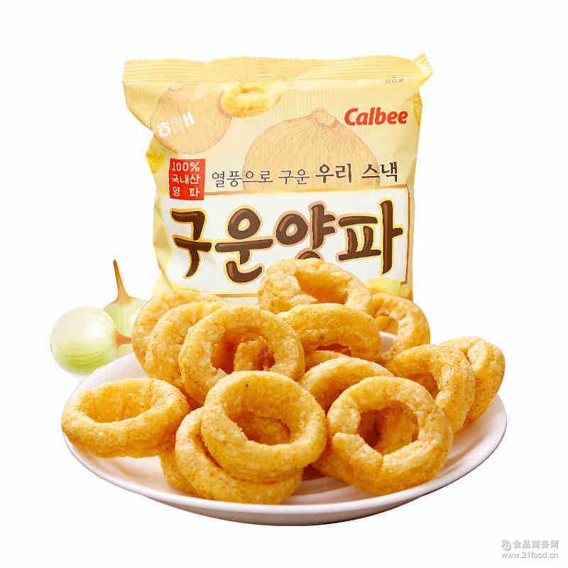 海太碳烤洋葱圈70g/袋 韩国进口膨化零食品 正品批发品牌代理