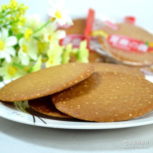 美味糕点 厂家直销 芝麻煎饼 芝麻脆 休闲食品 饼干
