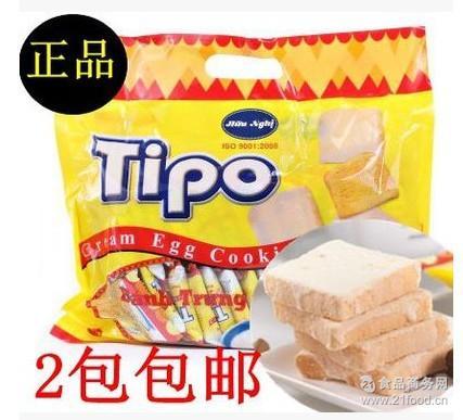 越南TIPO白巧克力面包干 2包包邮 面包干300g 鸡蛋酥脆饼 正品