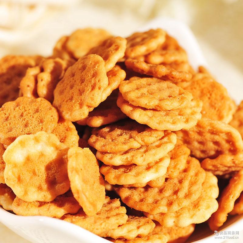 耶米熊妙厨小脆2.5kg/箱饼干 厂家直销 鸡蛋饼芝麻脆饼牛奶糕点