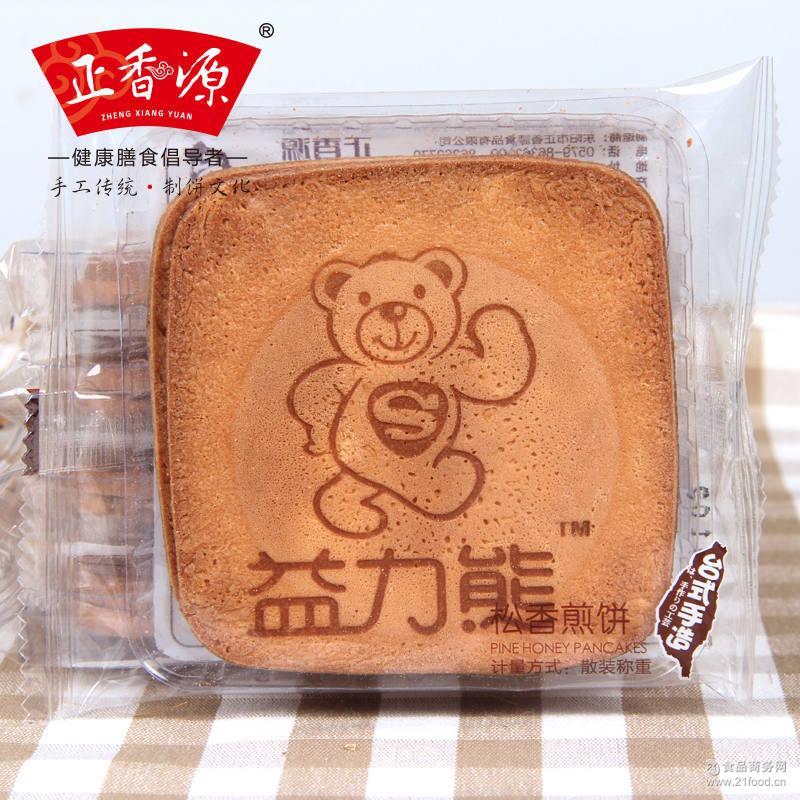 正香源 2.5kg/箱 蜜松香煎饼 瓦片早餐零食饼干点心煎饼 益力熊