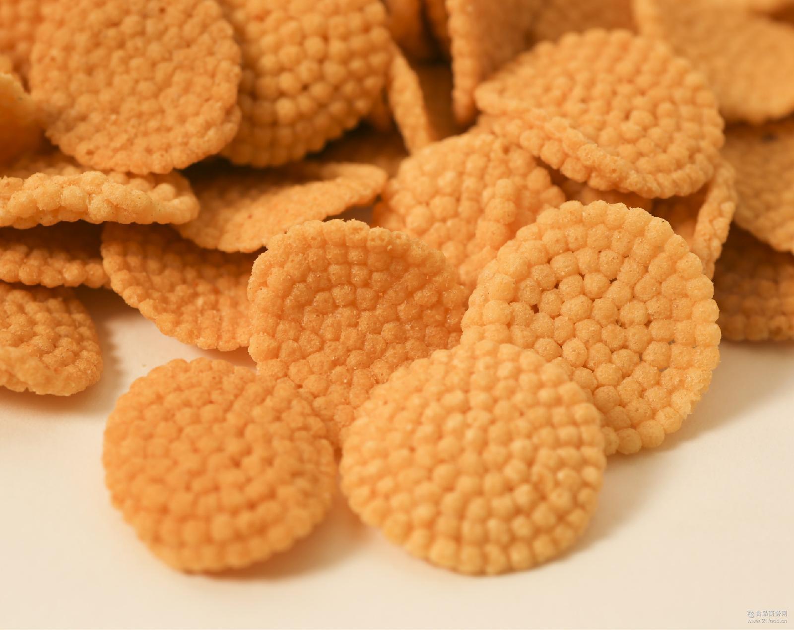 厂家批发热销散装9斤 膨化小米饼 小米煎饼 休闲食品
