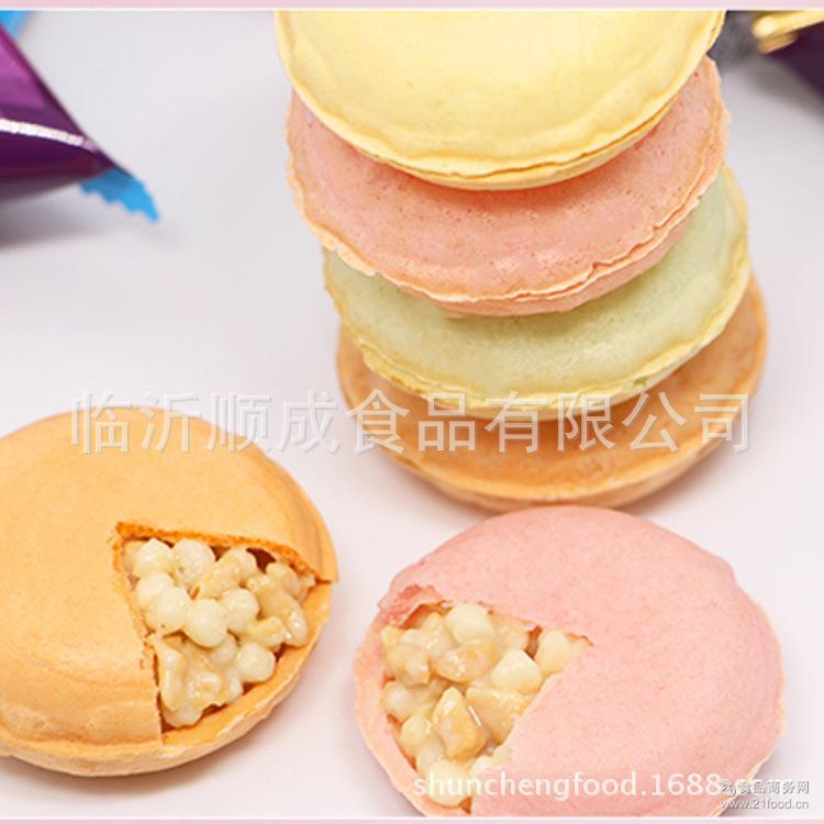 花生果仁夹心 马卡龙水果色饼干 休闲食品 美伦多 玛吉尼巧克力脆
