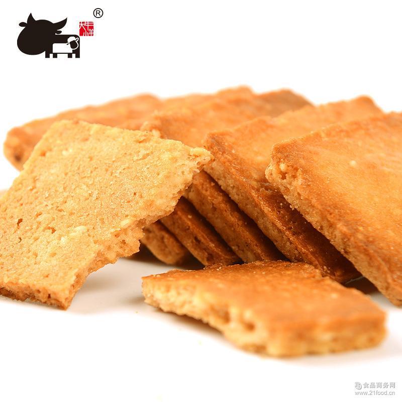 大牛小羊 蛋黄煎饼早餐饼干年货零食 铁板鸡蛋煎饼4盒礼盒/条