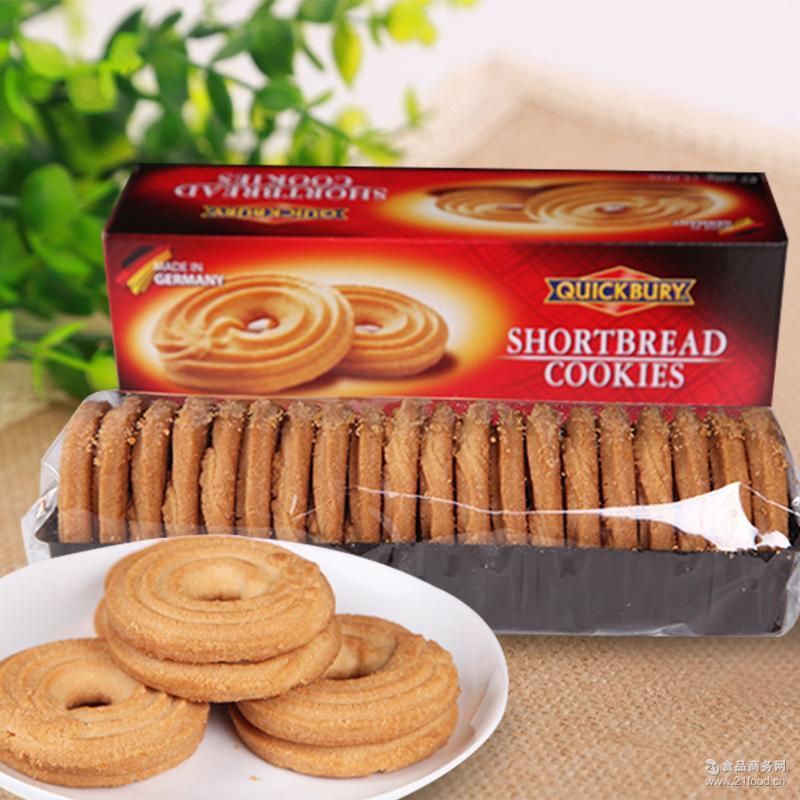 箱 手续齐全 德国进口捷百瑞原味曲奇脆饼干400g*18盒 大贸进关