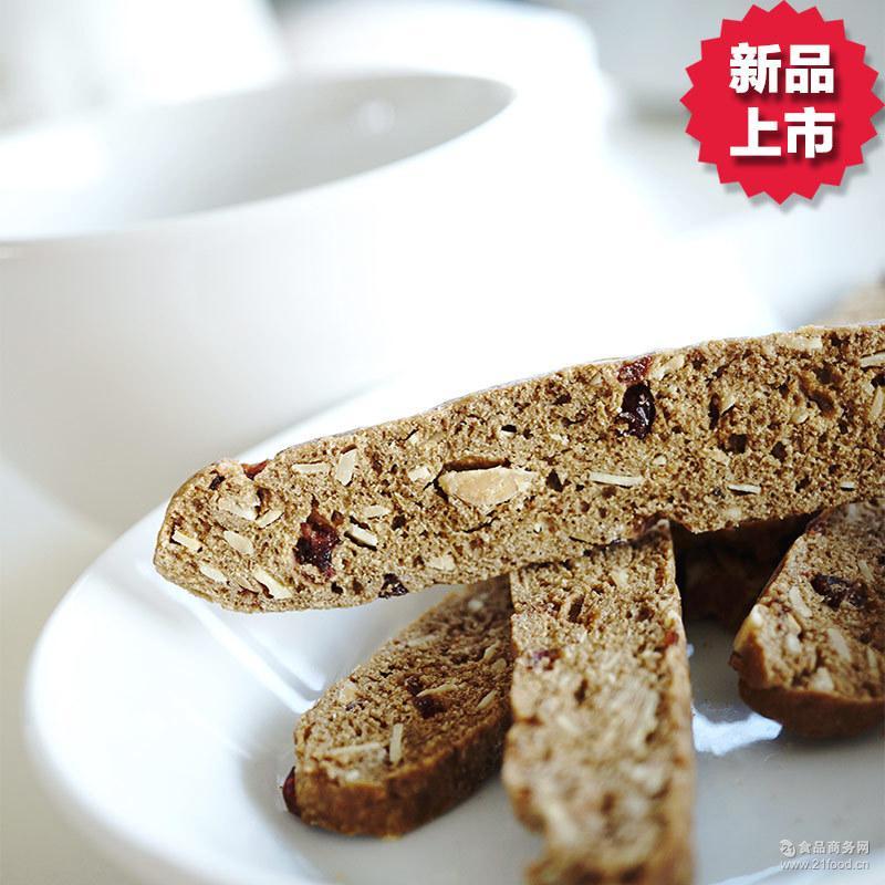 纤宜烘焙无糖无油咖啡蔓越莓脆饼健身饱腹代餐手工曲奇饼干上海产