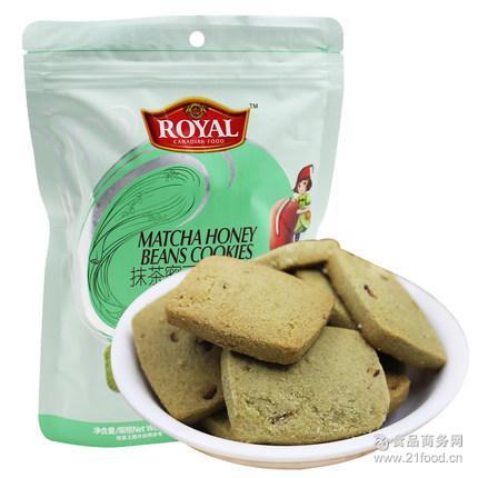 抹茶味曲奇西饼休闲零食饼干趣园食品厂家批发特价销售热销产品