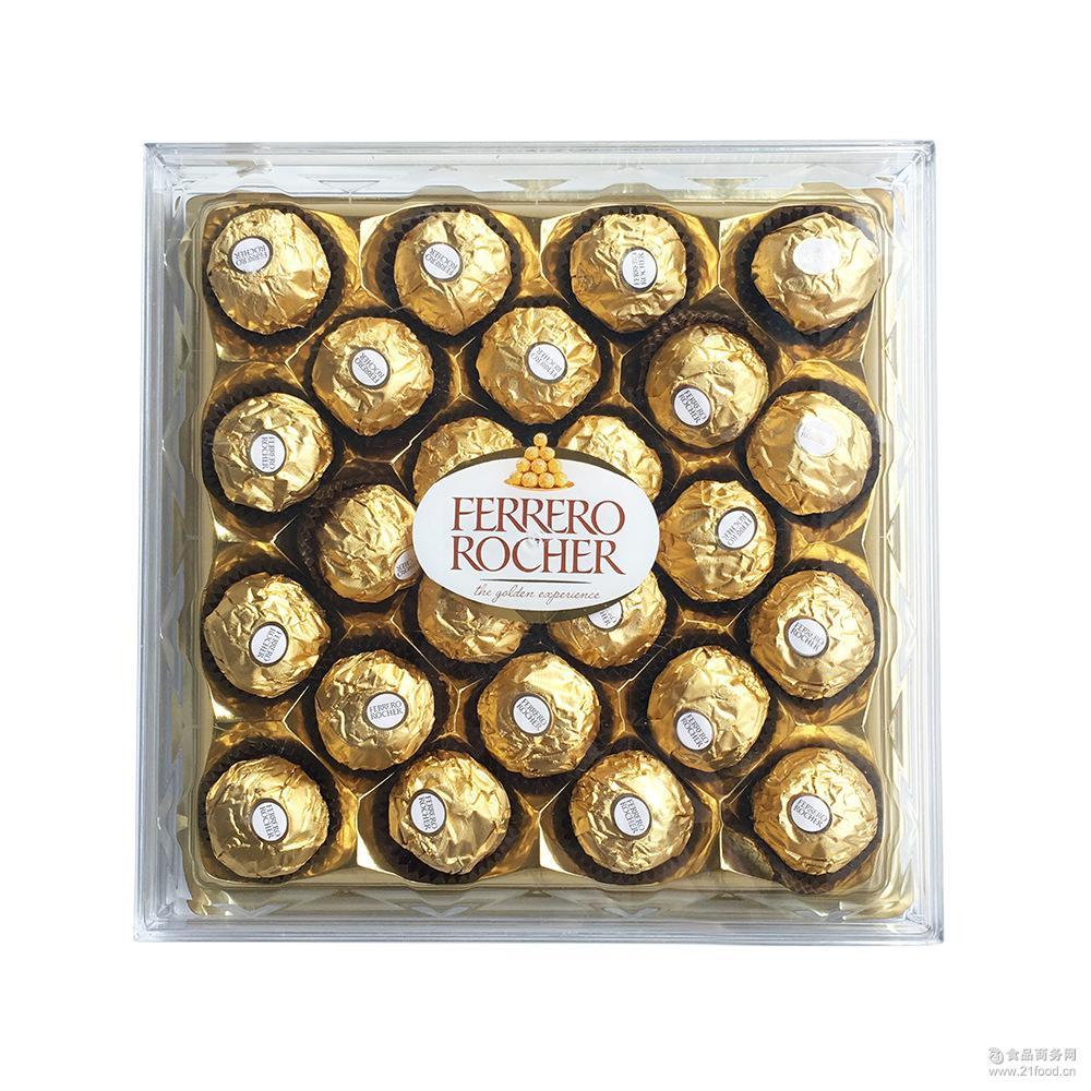 意大利进口费列罗巧克力 夹心巧克力24粒装300g 休闲零食批发