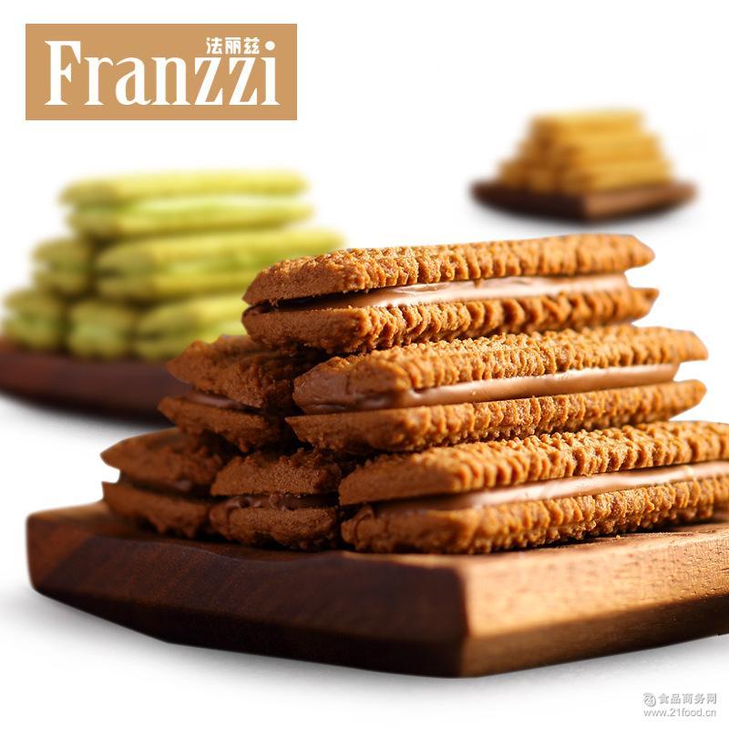 夹心曲奇饼干95g 法丽兹 黑巧克力抹茶休闲零食品组合小吃