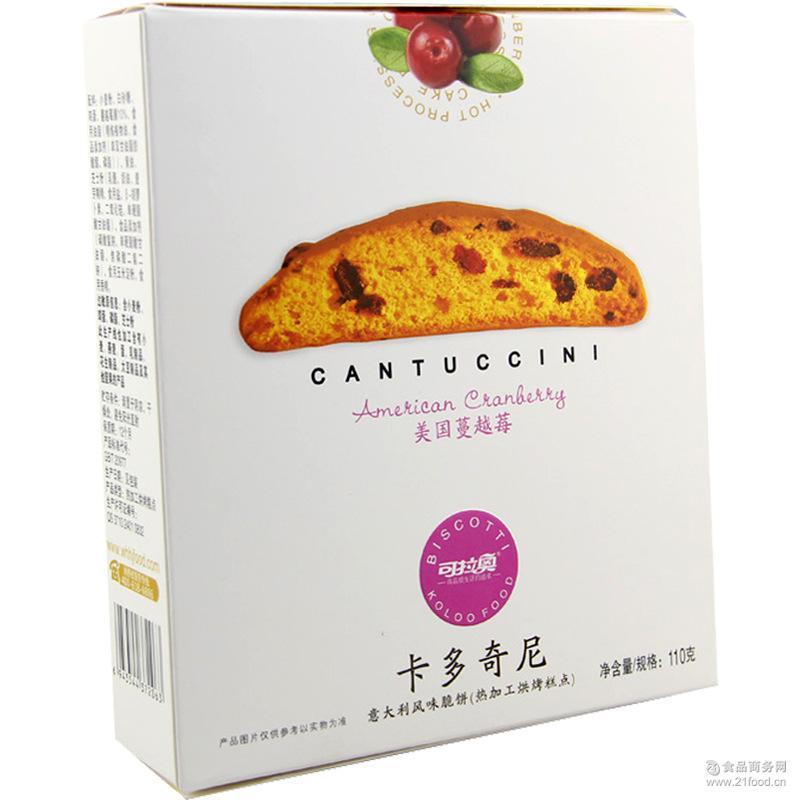 可拉奥卡多奇尼脆饼蔓越莓味KOLOO韧性含糖饼干批发