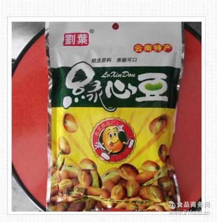 云南特产零食小吃200g刘叶绿心蚕豆香脆小零食下酒菜炒货