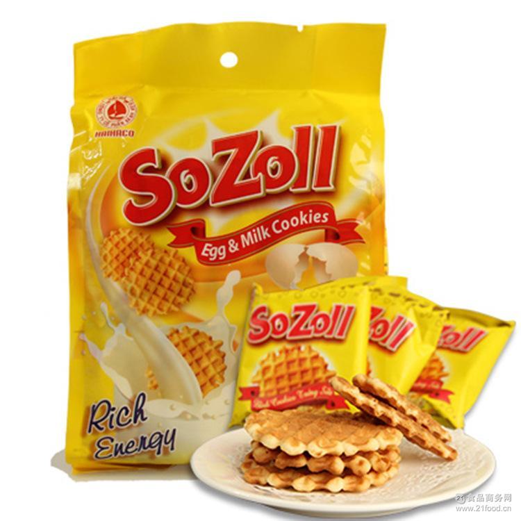 越南特产 越南零食 SOZOLL饼干鸡蛋瓦夫饼270G糕点小吃点心酥直销