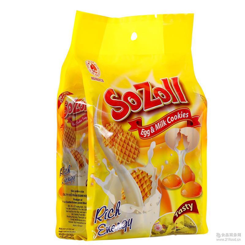 越南进口零食 海霞SOZOLL松乐鸡蛋饼270g 鸡蛋煎饼瓦夫饼