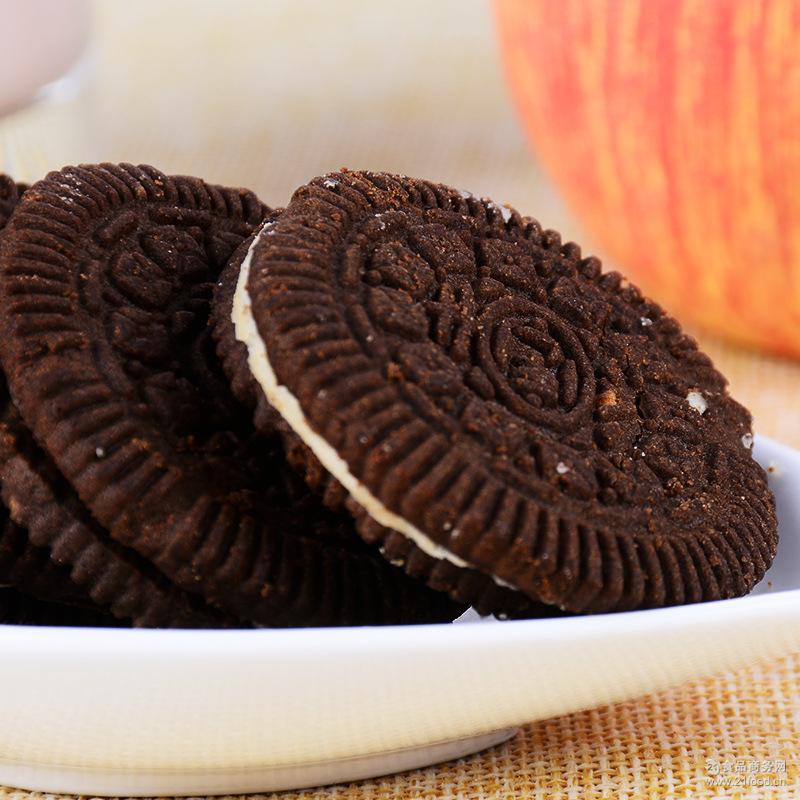 厂家直销 尚好佳儿童巧克力夹心慕斯早餐饼干老年人休闲零食批发