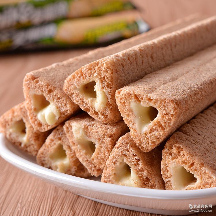 厂家直销膨化零食品 学生便利店超市货源 芝士牛奶夹心饼干批发