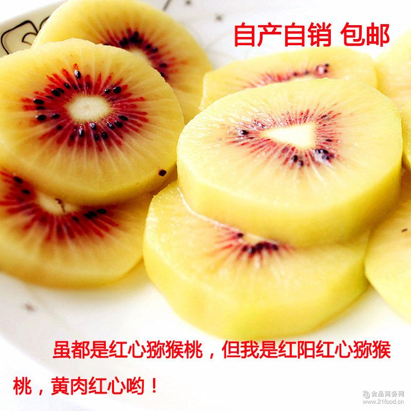 蒲江红阳红心猕猴桃 精品特级大果(120克以上)20粒装包邮